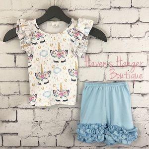 Baby Girl 2pc. 🦄 Unicorn 🦄 Shorts Set